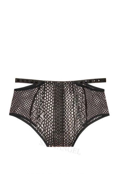 Trusiki-bikini s visokoi taliey Very Sexy chernaya setka