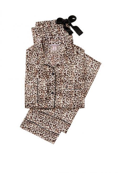 Satinovaia pizhama leopardovaia