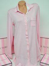 Супермягкая рубашка для сна Body by Victoria в фирменную полоску