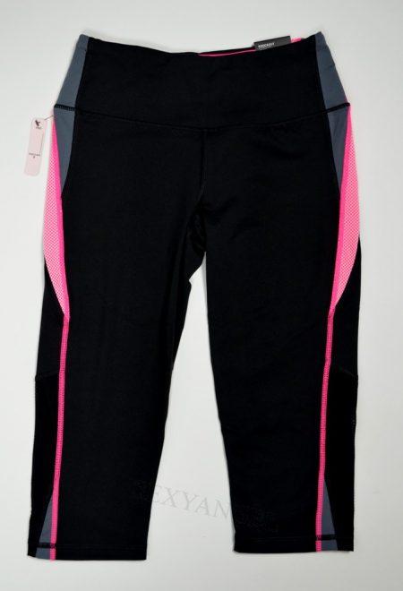Капри Knockout Crop из коллекции VSX Sport черные с розовыми вставками