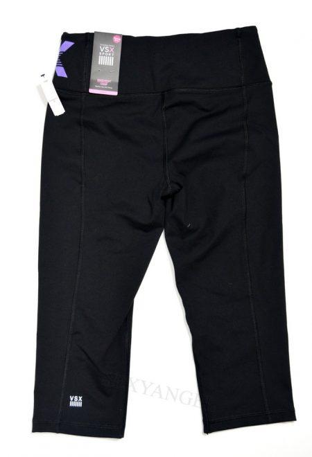 Капри Knockout Crop из коллекции VSX Sport черные с радужным лого
