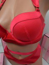 Комплект Flirt красный сатиновый с высокими трусами