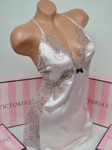 Сатиновый слип розовый с кружевом по бокам