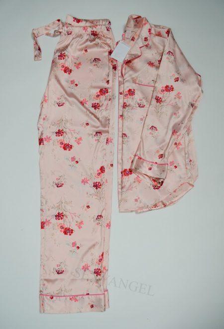 Сатиновая пижама цветочный принт