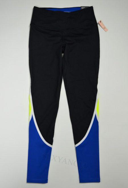 Штаны Knockout из коллекции VSX Sport черные с сине-желтыми вставками