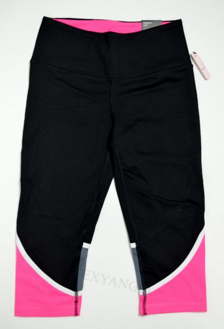 Капри Knockout из коллекции VSX Sport черные с розовыми вставками