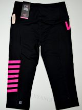 Капри Knockout черные розовый принт из коллекции VSX Sport