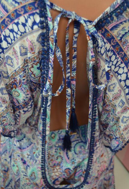 Пляжная туника blue foil