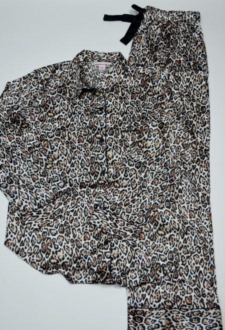 Сатиновая пижама леопардовая