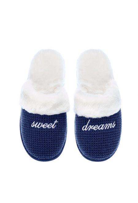 Теплые тапочки Victoria's Secret синие