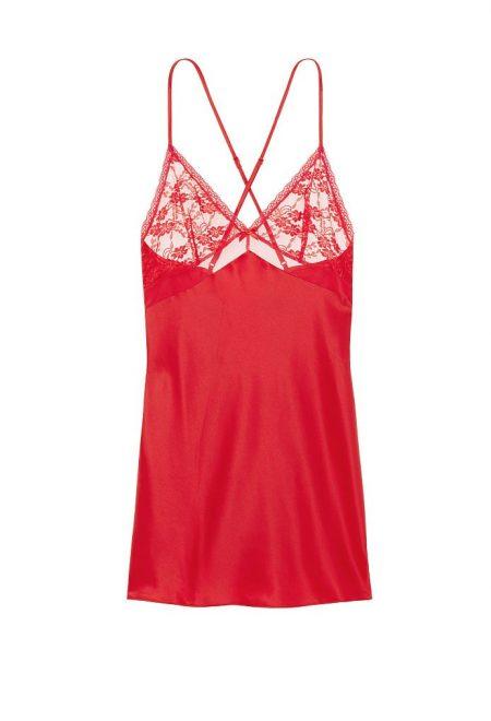 Набор для сна - сатиновый халат и слип красный