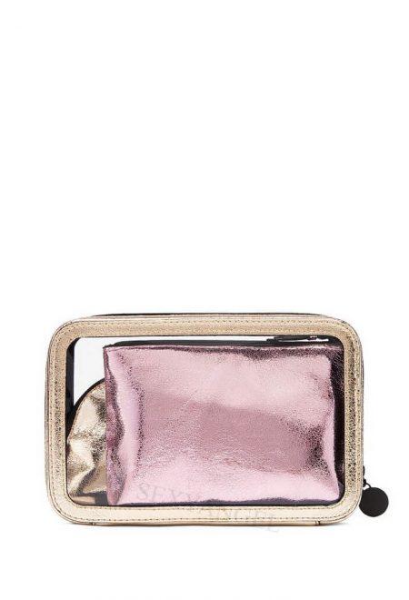 Nabor 3-h kosmetichek Victoria's Secret rozovoe zoloto2