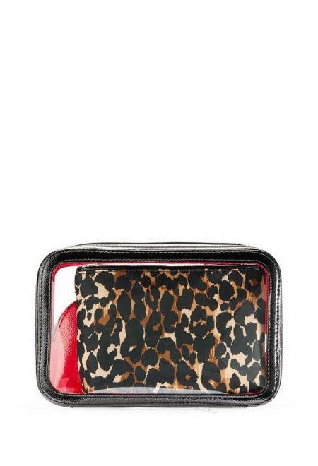 Nabor 3-h kosmetichek Victoria's Secret krasniy leopard3