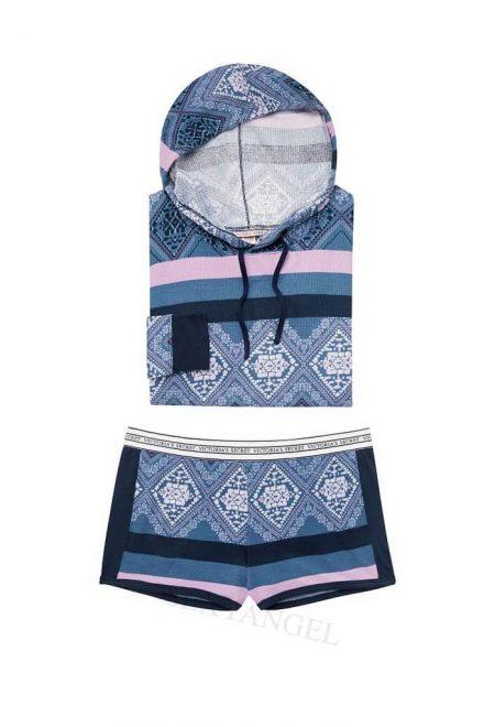Termalnaya pizhama s shortikami Victoria's Secret siniy print