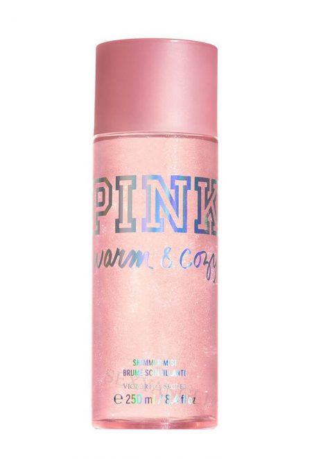 Mercayushiy sprey dlya tela Pink Warm and Cozy