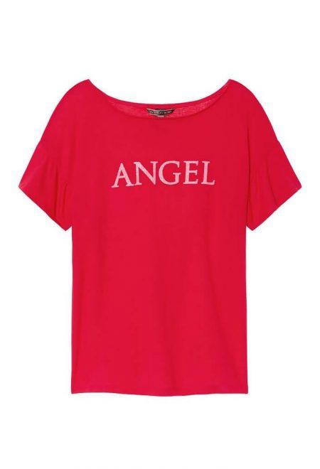 Pizhama Victoria's Secret futbolka s flanelevimi shortami krasnaya angel1