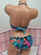 Kupalnik bando Pink s nizkimi plavkami biruzoviy print3