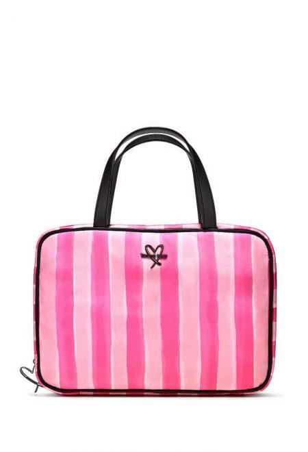 Bolshaia dorozhnaia kosmetichka pink stripe
