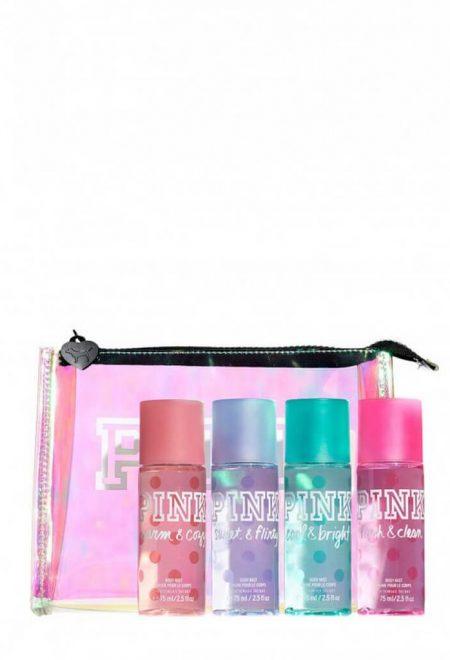 Nabor mini-spreev pink v kosmetichke