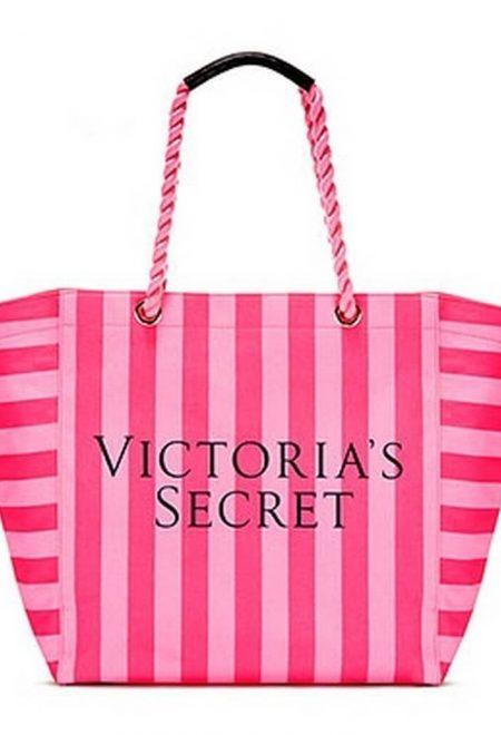 Pliazhnaia sumka Victoria's Secret malinovaia poloska