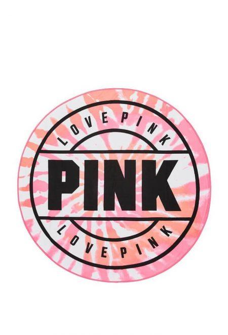 Krugloe polotence Pink rozovoe ombre