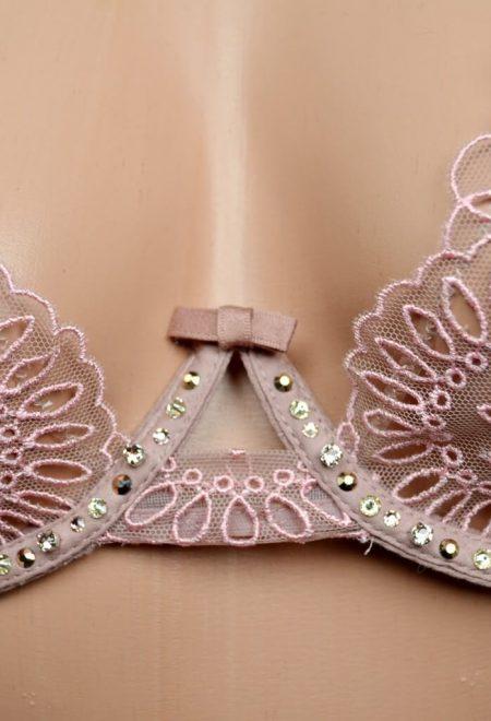 Komplekt bezhevij s kamniami Swarowski Victoria's Secret Designer Collection1