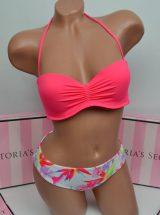 Kupalnik bando Beach Sexy jarko-rozovij s raznocvetnimi plavkami