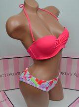 Kupalnik bando Beach Sexy jarko-rozovij s raznocvetnimi plavkami1