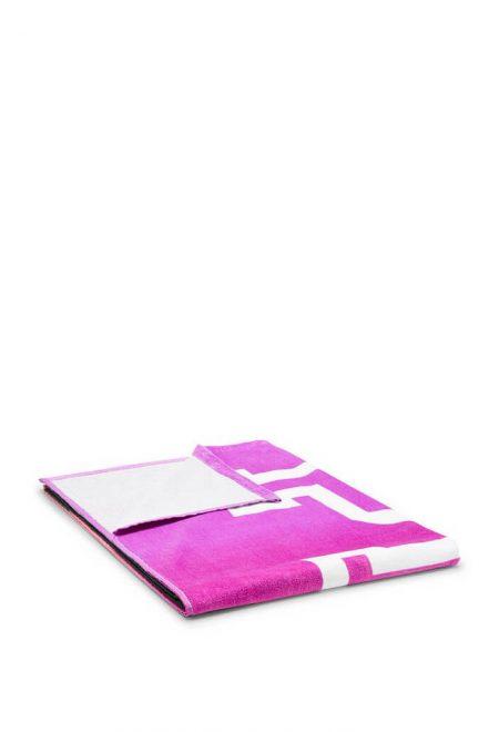 Pliazhnoe polotence Pink s nadpisju1