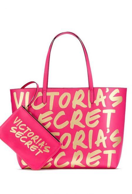 Sumka Victoria's Secret rozovo-zolotoe logo s kosmetichkoi