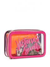 Nabor iz 3-h kosmetichek Victoria's Secret malinovo-oranzhevij2