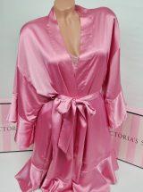 Satinovoe kimono s riushami Very Sexy rose luster