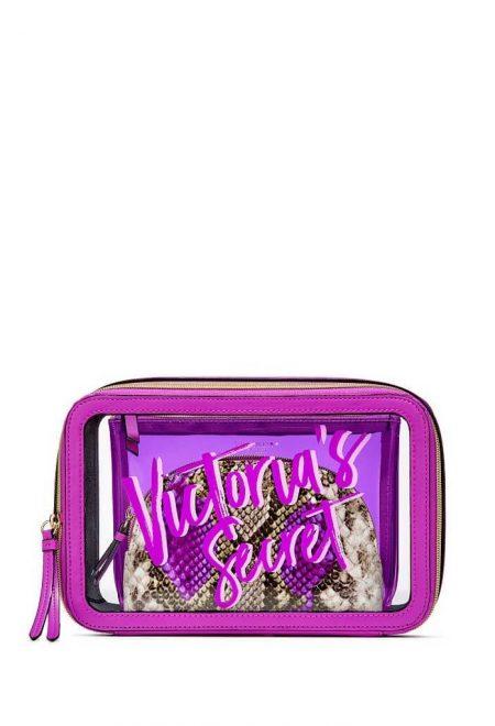 Nabor iz 3-h kosmetichek Victoria's Secret fioletovij