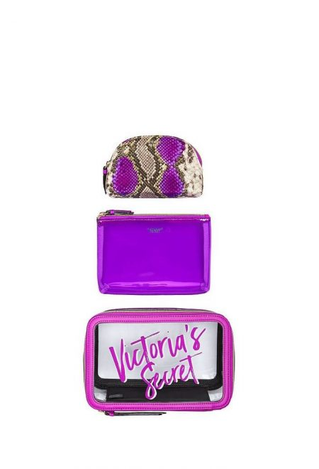 Nabor iz 3-h kosmetichek Victoria's Secret fioletovij1