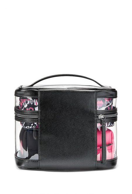 Nabor iz 4-h kosmetichek rozovo-chernij3