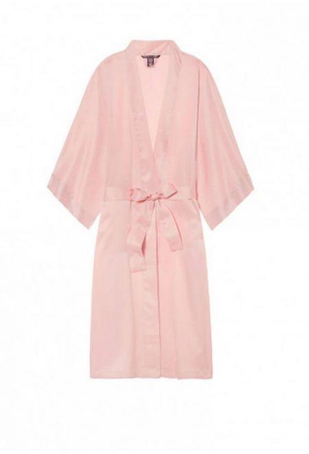 Satinovij halat Very Sexy rozovij midi millenial pink