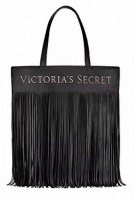 Sumka s bahromoi Victoria's Secret chernaia