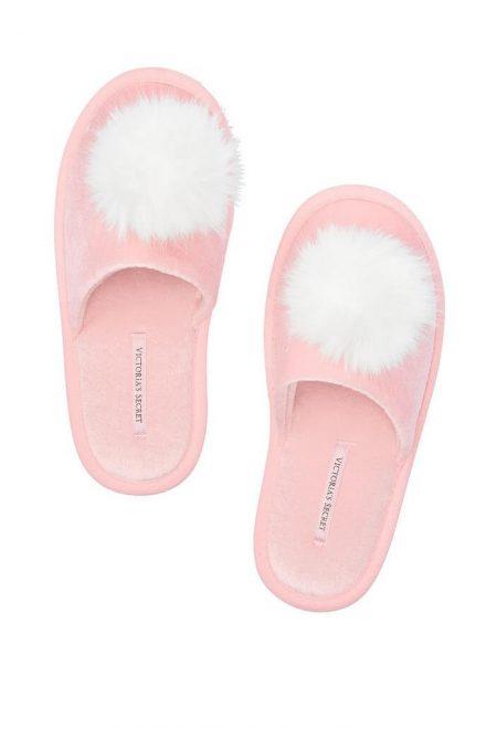 Tapochki s bubonami Victoria's Secret rozovie belie buboni