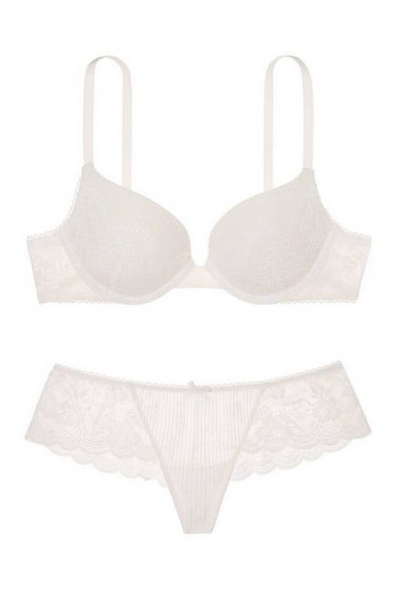 Komplekt push up Dream Angels ivory stripe lace