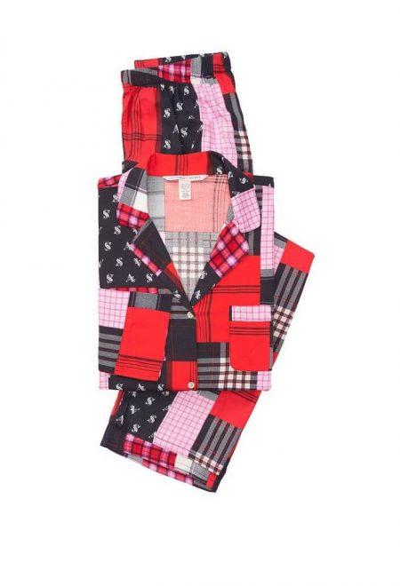 Flanelevaia pizhama Victoria's Secret rubashka i shtani red patchwork