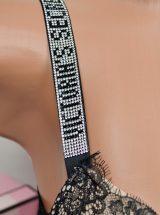 Komplekt Very Sexy chernij kruzhevnoi s kristallicheskimi breteliami3