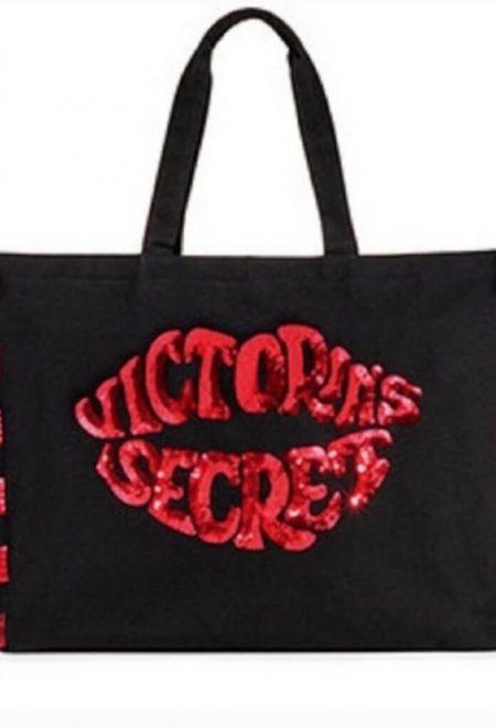 Sumka s paetkami Victoria's Secret cherno-krasnaia