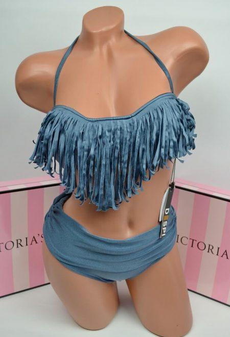 Kupalnik bando Despi onyx bahroma s visokimi plavkami