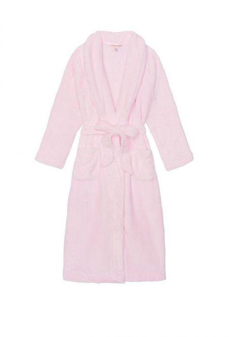 Dlinnij teplij halat Victoria's Secret Cozy Push rozovij