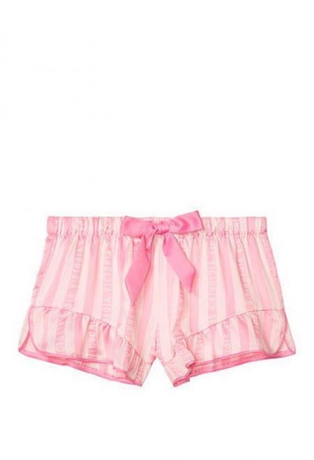 Satinovie shorti dlia sna Victoria's Secret rozovaia poloska