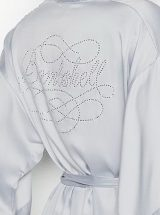 Halat kimono Victoria's Secret serebrianij s bandpishju iz kamnej Bombshell2