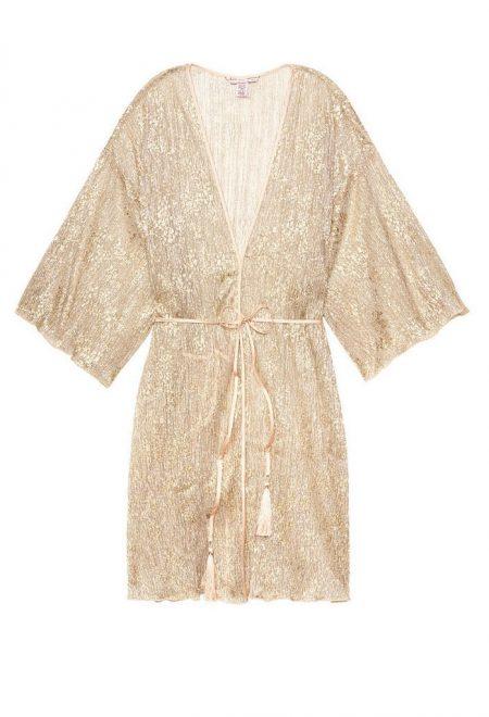 Plissirovanij halat kimono Victoria's Secret zolotoi