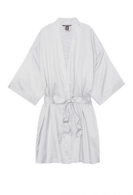 Halat kimono Victoria's Secret serebrianij s bandpishju iz kamnej Bombshell