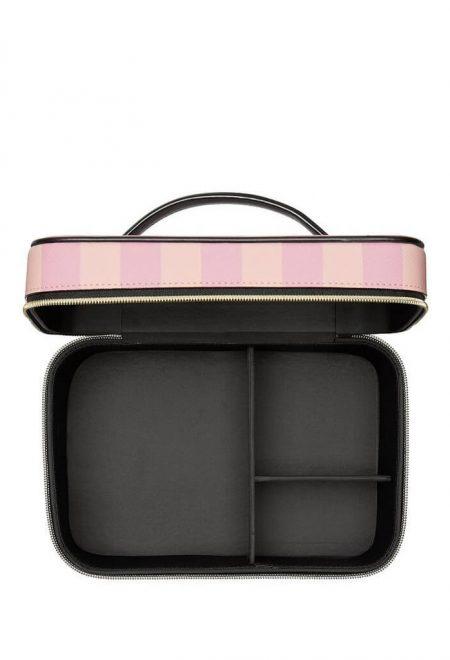Dorozhnij kejs dlia kosmetiki Victoria's Secret pink stripe2