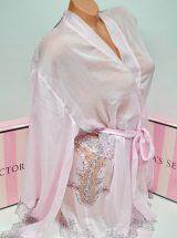 Shifonovij halat kimono s kruzhevom rozovij1
